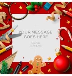 School holidays Christmas break poster vector image vector image