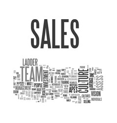 What s a sales culture text word cloud concept vector