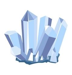 Mineral stone icon vector