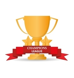 Isolated gold trophy cup design vector