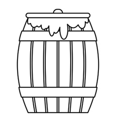 Honey keg icon outline style vector image