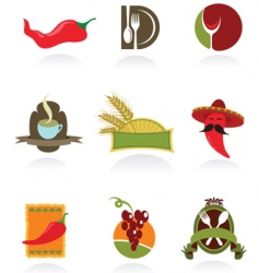 Chili icons vector