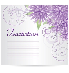 Violet flowers background vector