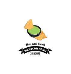 Nachos mexico food traditional mexican cuisine an vector
