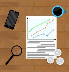 statistical economic infographic vector image