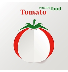 Abstract paper tomato vector
