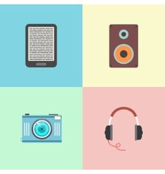 Set of four portable devices vector