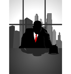 Boss on the phone vector