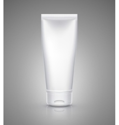 White tube mock-up for cream tooth paste gel vector