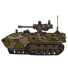 Track armoured vehicle vector