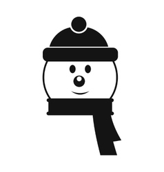 Head of snowman simple icon vector