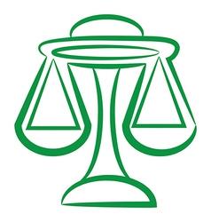 zodiac sign libra logo vector image