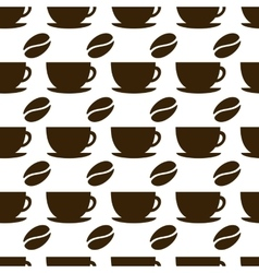 Seamless coffee cup vector