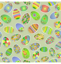 Seamless pattern of paper easter eggs vector
