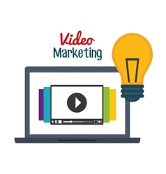 Video marketing graphic design vector