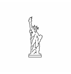 Statue of liberty icon outline style vector
