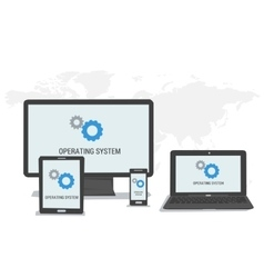 Concept operating system on different devices vector