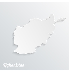 Abstract icon map of afghanistan vector