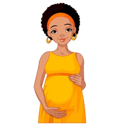 African pregnant woman prepared to be mother vector