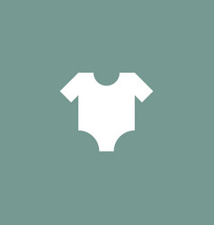 baby cloth icon simple vector image vector image