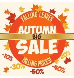 Big autumn sale poster vector image vector image