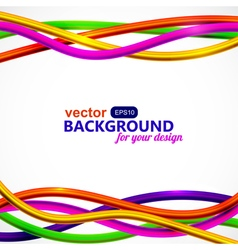 Bright wired abstraction on white background vector image vector image