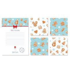 Christmas design elements set letter from santa vector