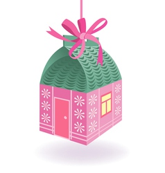 Cute house present vector