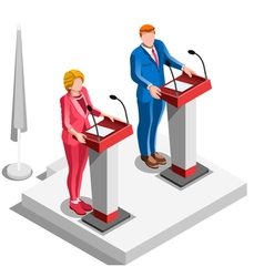 Election Infographic Politics Argue Isometric vector image vector image