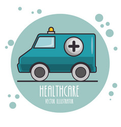 Emergency ambulance icon vector