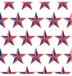 five-pointed stars pattern on white background vector image vector image