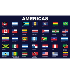 Flags of Americas vector image vector image
