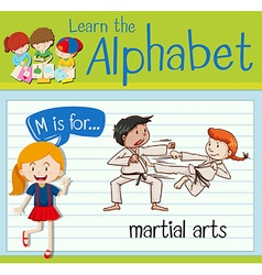 Flashcard letter m is for martial arts vector