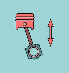 Flat icon design collection car piston movement vector