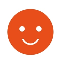 happy face isolated icon design vector image