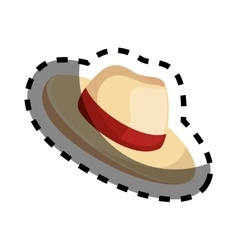 hat tourist accesory icon vector image vector image