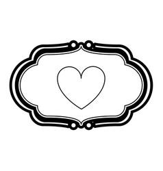 Heart ornament vector