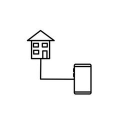 home control icon vector image