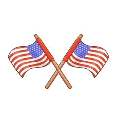 Independence day usa flags icon cartoon style vector image