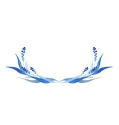 indigo blue hand drawn semicircle vector image