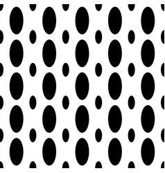 Monochrome seamless geometrical ellipse pattern - vector