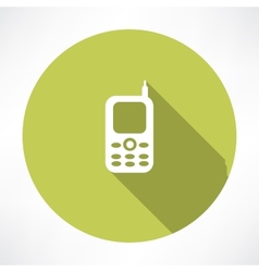 Old mobile phone vector