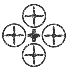 Quadcopter grainy texture icon vector
