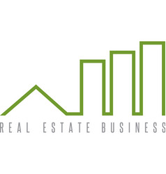 Real estate business simple icon design template vector