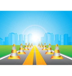 road and city vector image vector image