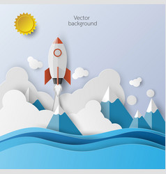 rocket launch icon abstract background vector image vector image
