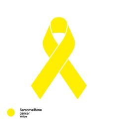 Sarcoma and bone cancer ribbon vector