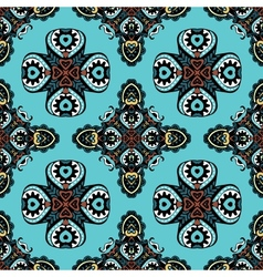 Seamlesst iles ethnic pattern gift wrap vector