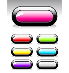 Set of buttons for web design vector image