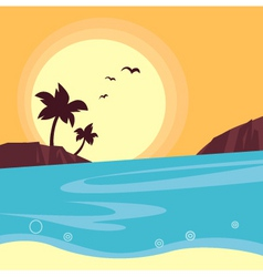 sunset travel background vector image